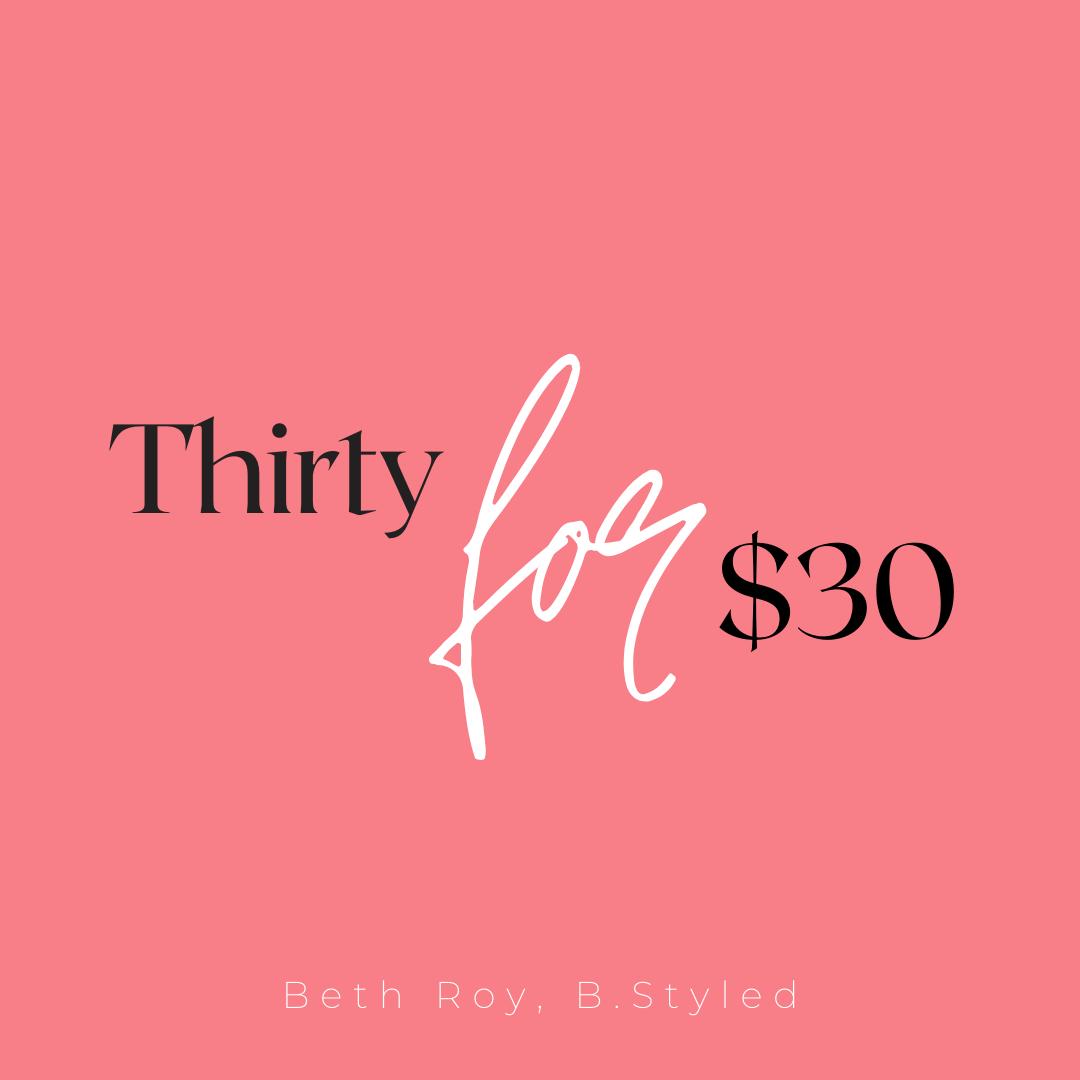 thirtyfor30